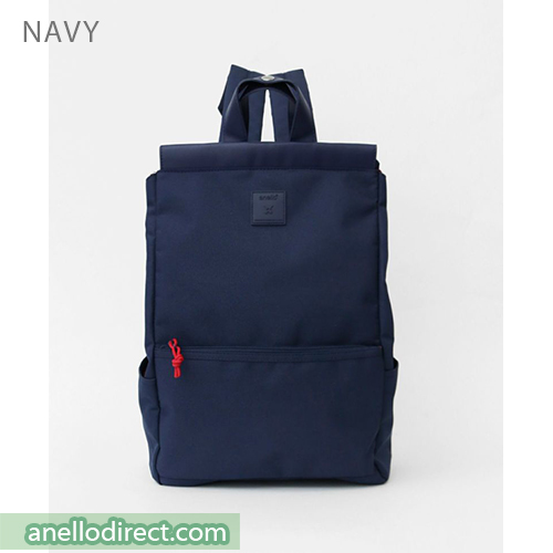 Anello Block Tote Polyester Backpack Rucksack AT-C2821 Navy Japan Original Official Authentic Real Genuine Bag Free Shipping Worldwide Special Discount Low Prices Great Offer