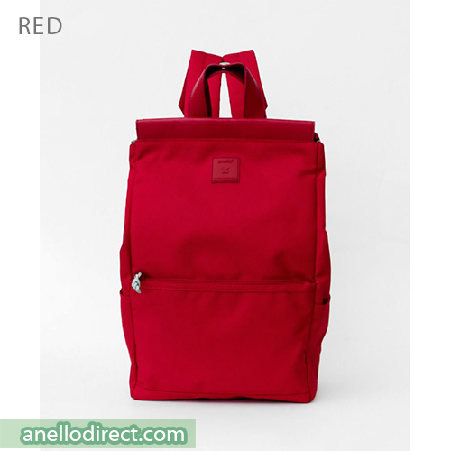 Anello Block Tote Polyester Backpack Rucksack AT-C2821 Red Japan Original Official Authentic Real Genuine Bag Free Shipping Worldwide Special Discount Low Prices Great Offer