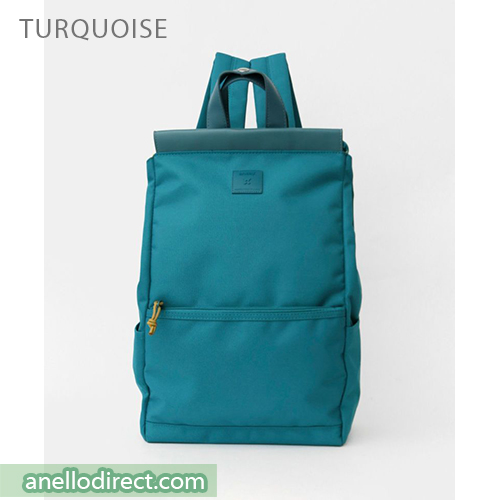 Anello Block Tote Polyester Backpack Rucksack AT-C2821 Turquoise Japan Original Official Authentic Real Genuine Bag Free Shipping Worldwide Special Discount Low Prices Great Offer