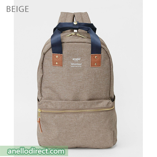 Anello ATELIER Handle Polyester Backpack Rucksack AT-C3161 Beige Japan Original Official Authentic Real Genuine Bag Free Shipping Worldwide Special Discount Low Prices Great Offer