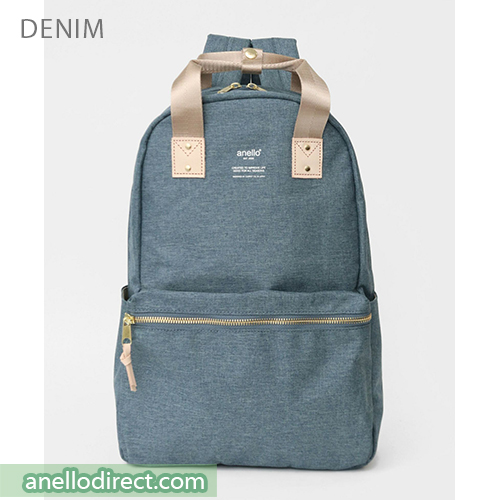 Anello ATELIER Handle Polyester Backpack Rucksack AT-C3161 Denim Blue Japan Original Official Authentic Real Genuine Bag Free Shipping Worldwide Special Discount Low Prices Great Offer