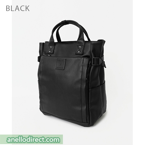 Anello PU Leather 10 Pocket  2 Way Tote Backpack Rucksack AT-C3321 Black Japan Original Official Authentic Real Genuine Bag Free Shipping Worldwide Special Discount Low Prices Great Offer