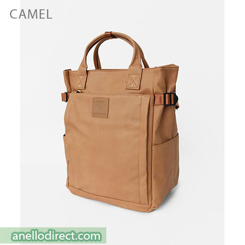 Anello PU Leather 10 Pocket  2 Way Tote Backpack Rucksack AT-C3321 Camel Japan Original Official Authentic Real Genuine Bag Free Shipping Worldwide Special Discount Low Prices Great Offer