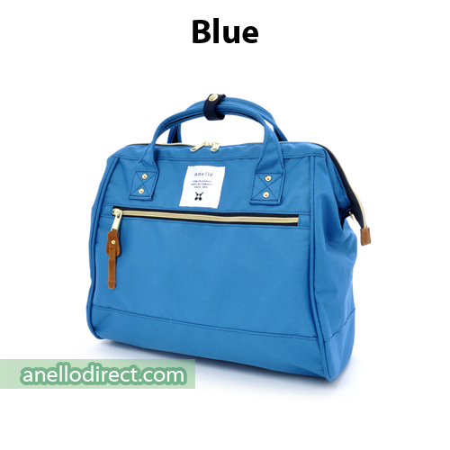 Anello Polyester Canvas 2 Way Shoulder Bag Regular Size AT-H0852 Blue Japan Original Official Authentic Real Genuine Bag Free Shipping Worldwide Special Discount Low Prices Great Offer