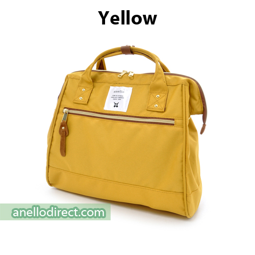 Anello Polyester Canvas 2 Way Shoulder Bag Regular Size AT-H0852 Yellow Japan Original Official Authentic Real Genuine Bag Free Shipping Worldwide Special Discount Low Prices Great Offer