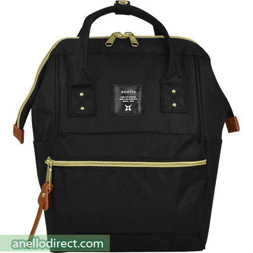 Anello Polyester Canvas Backpack Rucksack For Kids AT-H0853 Black Japan Original Official Authentic Real Genuine Bag Free Shipping Worldwide Special Discount Low Prices Great Offer
