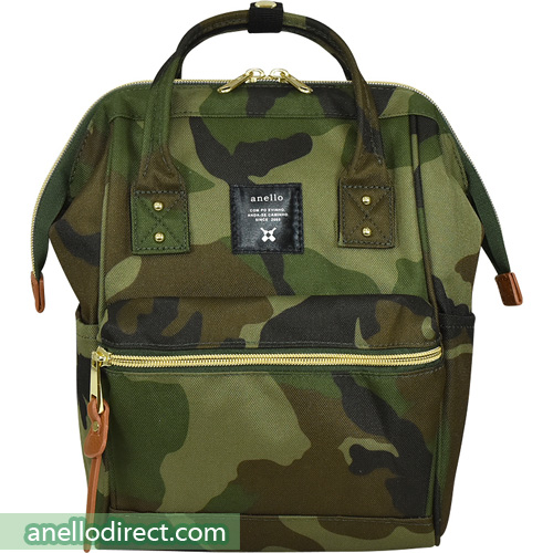Anello Polyester Canvas Backpack Rucksack For Kids AT-H0853 Camo Japan Original Official Authentic Real Genuine Bag Free Shipping Worldwide Special Discount Low Prices Great Offer