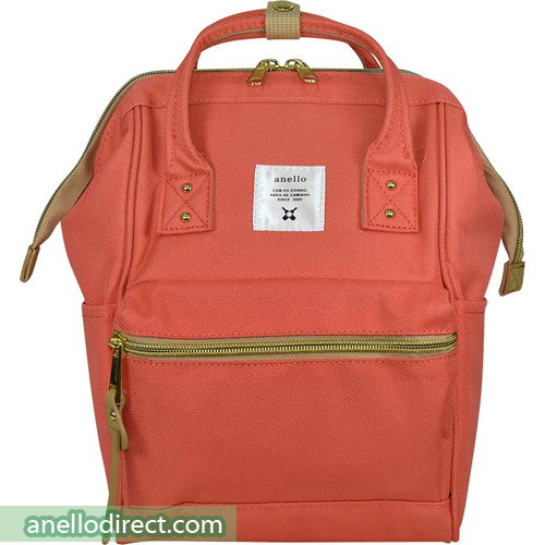 Anello Polyester Canvas Backpack Rucksack For Kids AT-H0853 Coral Pink Japan Original Official Authentic Real Genuine Bag Free Shipping Worldwide Special Discount Low Prices Great Offer
