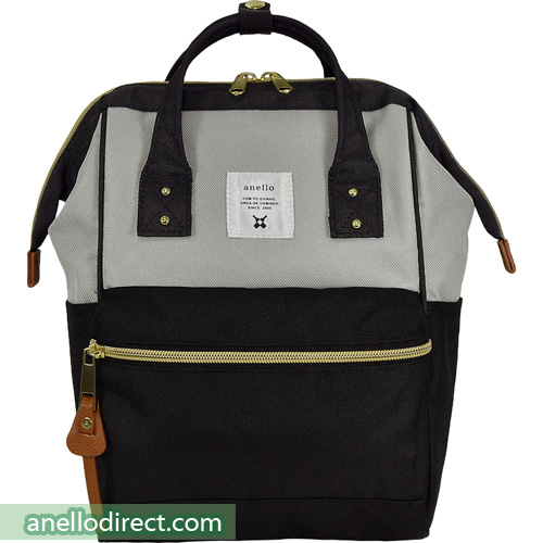 Anello Polyester Canvas Backpack Rucksack For Kids AT-H0853 Gray x Black Japan Original Official Authentic Real Genuine Bag Free Shipping Worldwide Special Discount Low Prices Great Offer
