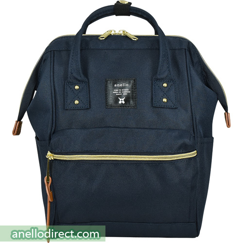 Anello Polyester Canvas Backpack Rucksack For Kids AT-H0853 Navy Japan Original Official Authentic Real Genuine Bag Free Shipping Worldwide Special Discount Low Prices Great Offer