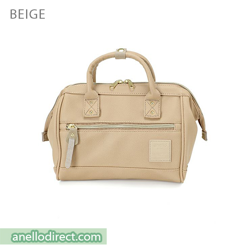 Anello PU Leather 2 Way Shoulder Bag Mini Size AT-H1021 Beige Japan Original Official Authentic Real Genuine Bag Free Shipping Worldwide Special Discount Low Prices Great Offer