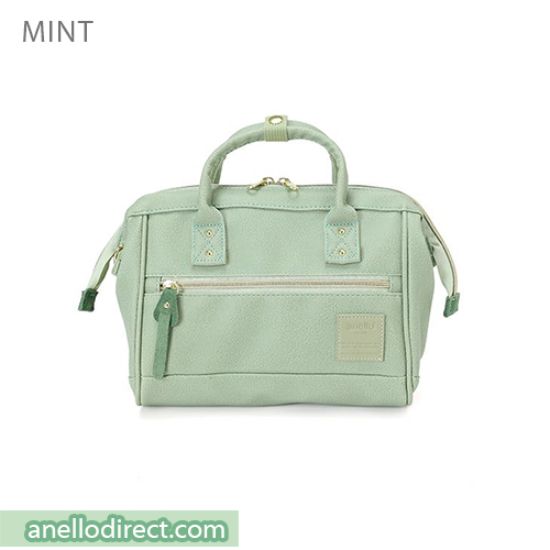 Anello PU Leather 2 Way Shoulder Bag Mini Size AT-H1021 Mint Japan Original Official Authentic Real Genuine Bag Free Shipping Worldwide Special Discount Low Prices Great Offer