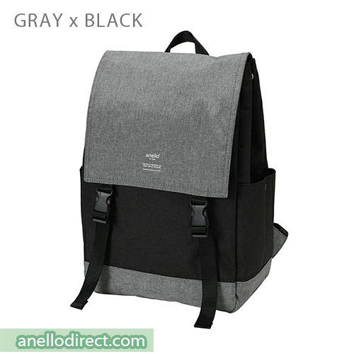 Anello Flapper Flap Polyester Backpack Rucksack AT-H1151 Gray x Black Japan Original Official Authentic Real Genuine Bag Free Shipping Worldwide Special Discount Low Prices Great Offer