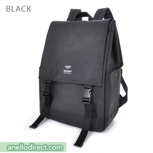 Anello Flapper Flap Polyester Backpack Rucksack AT-H1151 Black Japan Original Official Authentic Real Genuine Bag Free Shipping Worldwide Special Discount Low Prices Great Offer