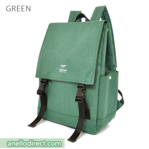Anello Flapper Flap Polyester Backpack Rucksack AT-H1151 Green Japan Original Official Authentic Real Genuine Bag Free Shipping Worldwide Special Discount Low Prices Great Offer