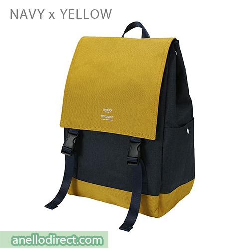 Anello Flapper Flap Polyester Backpack Rucksack AT-H1151 Navy x Yellow Japan Original Official Authentic Real Genuine Bag Free Shipping Worldwide Special Discount Low Prices Great Offer