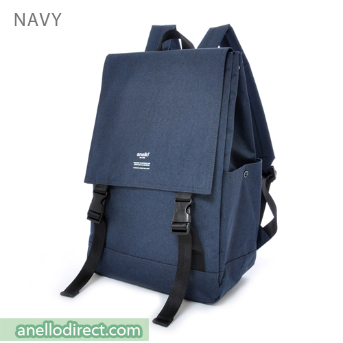 Anello Flapper Flap Polyester Backpack Rucksack AT-H1151 Navy Japan Original Official Authentic Real Genuine Bag Free Shipping Worldwide Special Discount Low Prices Great Offer