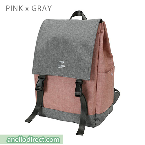 Anello Flapper Flap Polyester Backpack Rucksack AT-H1151 Pink x Gray Japan Original Official Authentic Real Genuine Bag Free Shipping Worldwide Special Discount Low Prices Great Offer