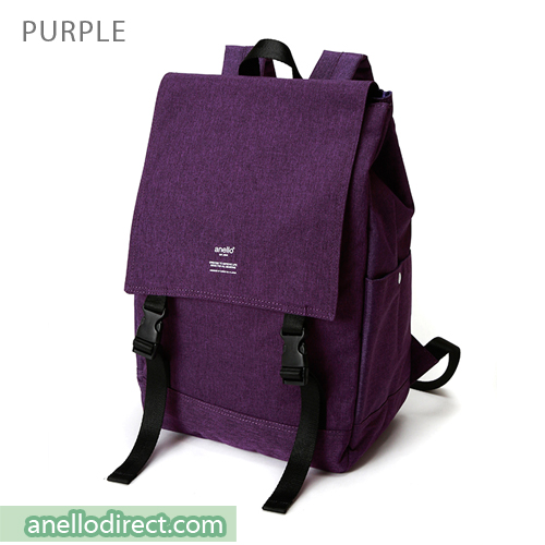 Anello Flapper Flap Polyester Backpack Rucksack AT-H1151 Purple Japan Original Official Authentic Real Genuine Bag Free Shipping Worldwide Special Discount Low Prices Great Offer