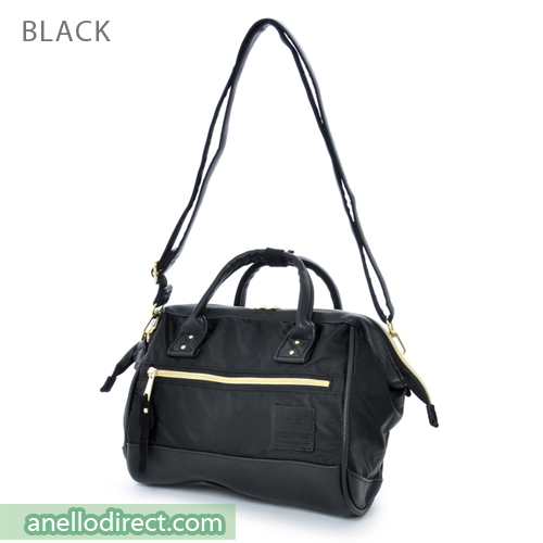 Anello PU Leather X Nylon 2 Way Shoulder Bag Mini Size AT-H1241 Black Japan Original Official Authentic Real Genuine Bag Free Shipping Worldwide Special Discount Low Prices Great Offer