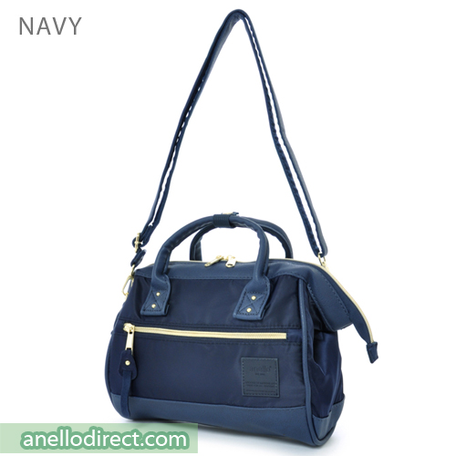 Anello PU Leather X Nylon 2 Way Shoulder Bag Mini Size AT-H1241 Navy Japan Original Official Authentic Real Genuine Bag Free Shipping Worldwide Special Discount Low Prices Great Offer