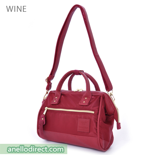 Anello PU Leather X Nylon 2 Way Shoulder Bag Mini Size AT-H1241 Wine Japan Original Official Authentic Real Genuine Bag Free Shipping Worldwide Special Discount Low Prices Great Offer