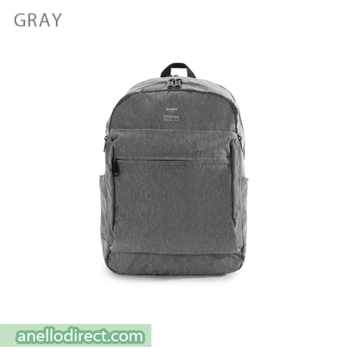 Anello Ripstop Polyester 10 Pocket Backpack Rucksack AT-H1811 Gray Japan Original Official Authentic Real Genuine Bag Free Shipping Worldwide Special Discount Low Prices Great Offer