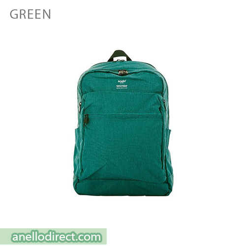 Anello Ripstop Polyester 10 Pocket Backpack Rucksack AT-H1811 Green Japan Original Official Authentic Real Genuine Bag Free Shipping Worldwide Special Discount Low Prices Great Offer