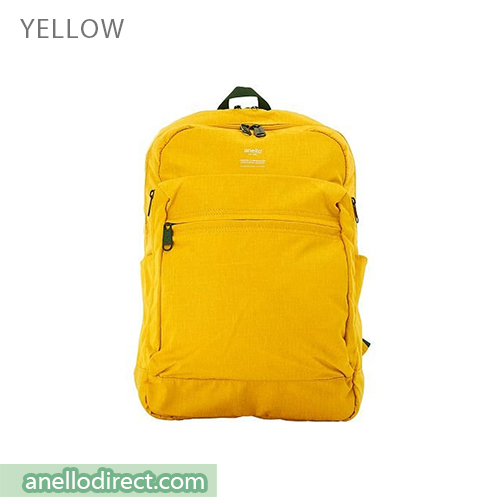 Anello Ripstop Polyester 10 Pocket Backpack Rucksack AT-H1811 Yellow Japan Original Official Authentic Real Genuine Bag Free Shipping Worldwide Special Discount Low Prices Great Offer