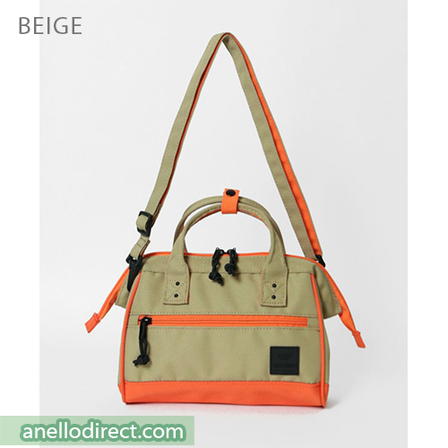 Anello N/C Polyester Canvas 2 Way Shoulder Bag Handbag AT-H2021 Beige Japan Original Official Authentic Real Genuine Bag Free Shipping Worldwide Special Discount Low Prices Great Offer