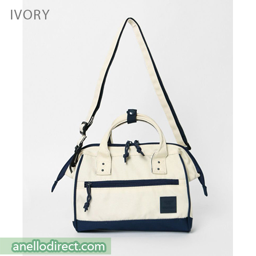 Anello N/C Polyester Canvas 2 Way Shoulder Bag Handbag AT-H2021 Ivory Japan Original Official Authentic Real Genuine Bag Free Shipping Worldwide Special Discount Low Prices Great Offer