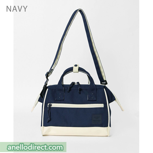 Anello N/C Polyester Canvas 2 Way Shoulder Bag Handbag AT-H2021 Navy Japan Original Official Authentic Real Genuine Bag Free Shipping Worldwide Special Discount Low Prices Great Offer