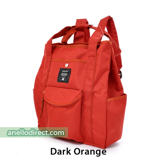 Anello Polyester Canvas 2 Way Tote Backpack Rucksack AT-N0071 Dark Orange Japan Original Official Authentic Real Genuine Bag Free Shipping Worldwide Special Discount Low Prices Great Offer