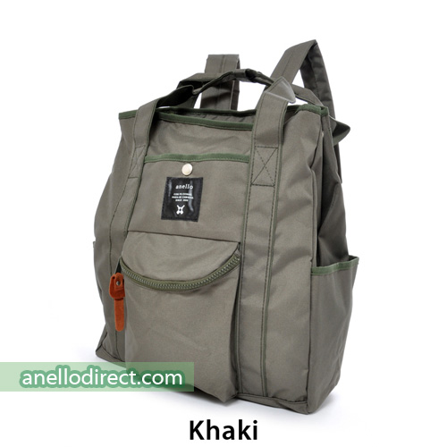 Anello Polyester Canvas 2 Way Tote Backpack Rucksack AT-N0071 Khaki Japan Original Official Authentic Real Genuine Bag Free Shipping Worldwide Special Discount Low Prices Great Offer