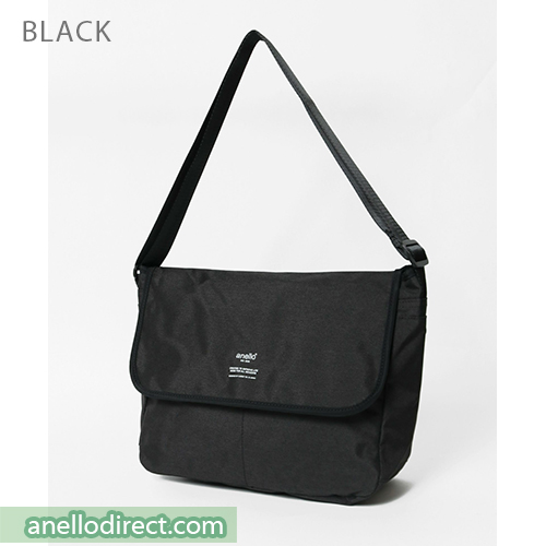 Anello THE DAY Flap Polyester Shoulder Bag AT-N0662 Black Japan Original Official Authentic Real Genuine Bag Free Shipping Worldwide Special Discount Low Prices Great Offer