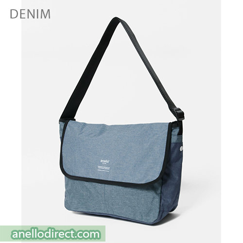 Anello THE DAY Flap Polyester Shoulder Bag AT-N0662 Denim Blue Japan Original Official Authentic Real Genuine Bag Free Shipping Worldwide Special Discount Low Prices Great Offer