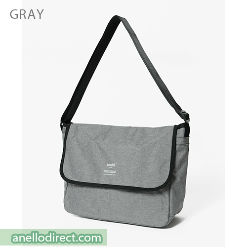 Anello THE DAY Flap Polyester Shoulder Bag AT-N0662 Gray Japan Original Official Authentic Real Genuine Bag Free Shipping Worldwide Special Discount Low Prices Great Offer
