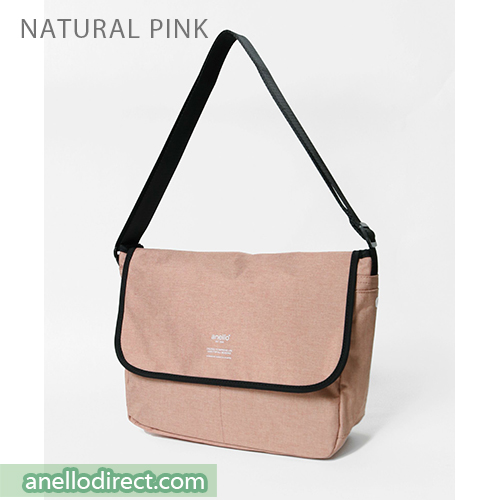 Anello THE DAY Flap Polyester Shoulder Bag AT-N0662 Natural Pink Japan Original Official Authentic Real Genuine Bag Free Shipping Worldwide Special Discount Low Prices Great Offer