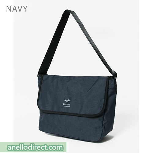 Anello THE DAY Flap Polyester Shoulder Bag AT-N0662 Navy Japan Original Official Authentic Real Genuine Bag Free Shipping Worldwide Special Discount Low Prices Great Offer
