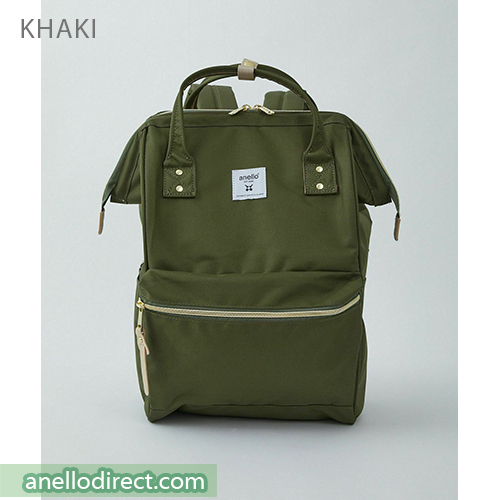 Anello REPREVE Upgraded Canvas Backpack Regular Size ATB0193R Khaki Japan Original Official Authentic Real Genuine Bag Free Shipping Worldwide Special Discount Low Prices Great Offer