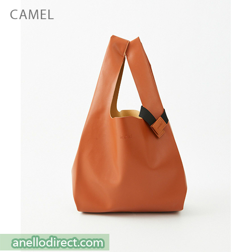 Anello ALTON PU Leather Tote Bag ATB3647 Camel Japan Original Official Authentic Real Genuine Bag Free Shipping Worldwide Special Discount Low Prices Great Offer