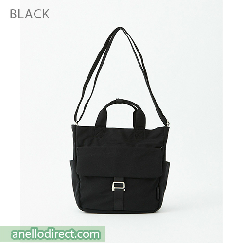 Anello MONET Cotton 2 Way Shoulder Bag Handbag Tote ATM0105 Black Japan Original Official Authentic Real Genuine Bag Free Shipping Worldwide Special Discount Low Prices Great Offer