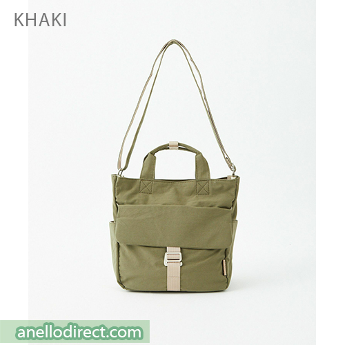 Anello MONET Cotton 2 Way Shoulder Bag Handbag Tote ATM0105 Khaki Japan Original Official Authentic Real Genuine Bag Free Shipping Worldwide Special Discount Low Prices Great Offer