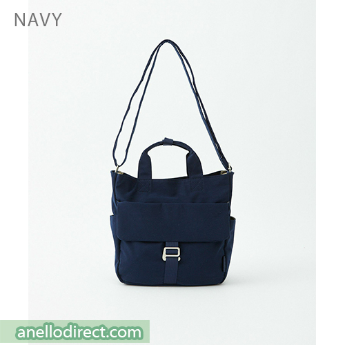 Anello MONET Cotton 2 Way Shoulder Bag Handbag Tote ATM0105 Navy Japan Original Official Authentic Real Genuine Bag Free Shipping Worldwide Special Discount Low Prices Great Offer