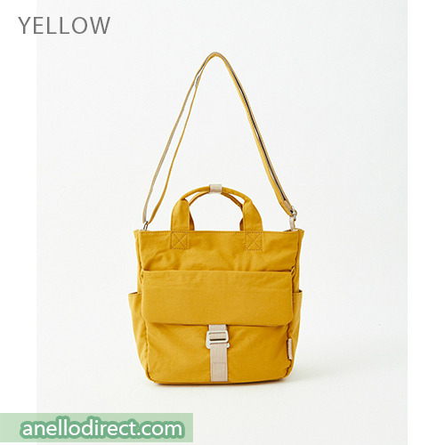 Anello MONET Cotton 2 Way Shoulder Bag Handbag Tote ATM0105 Yellow Japan Original Official Authentic Real Genuine Bag Free Shipping Worldwide Special Discount Low Prices Great Offer