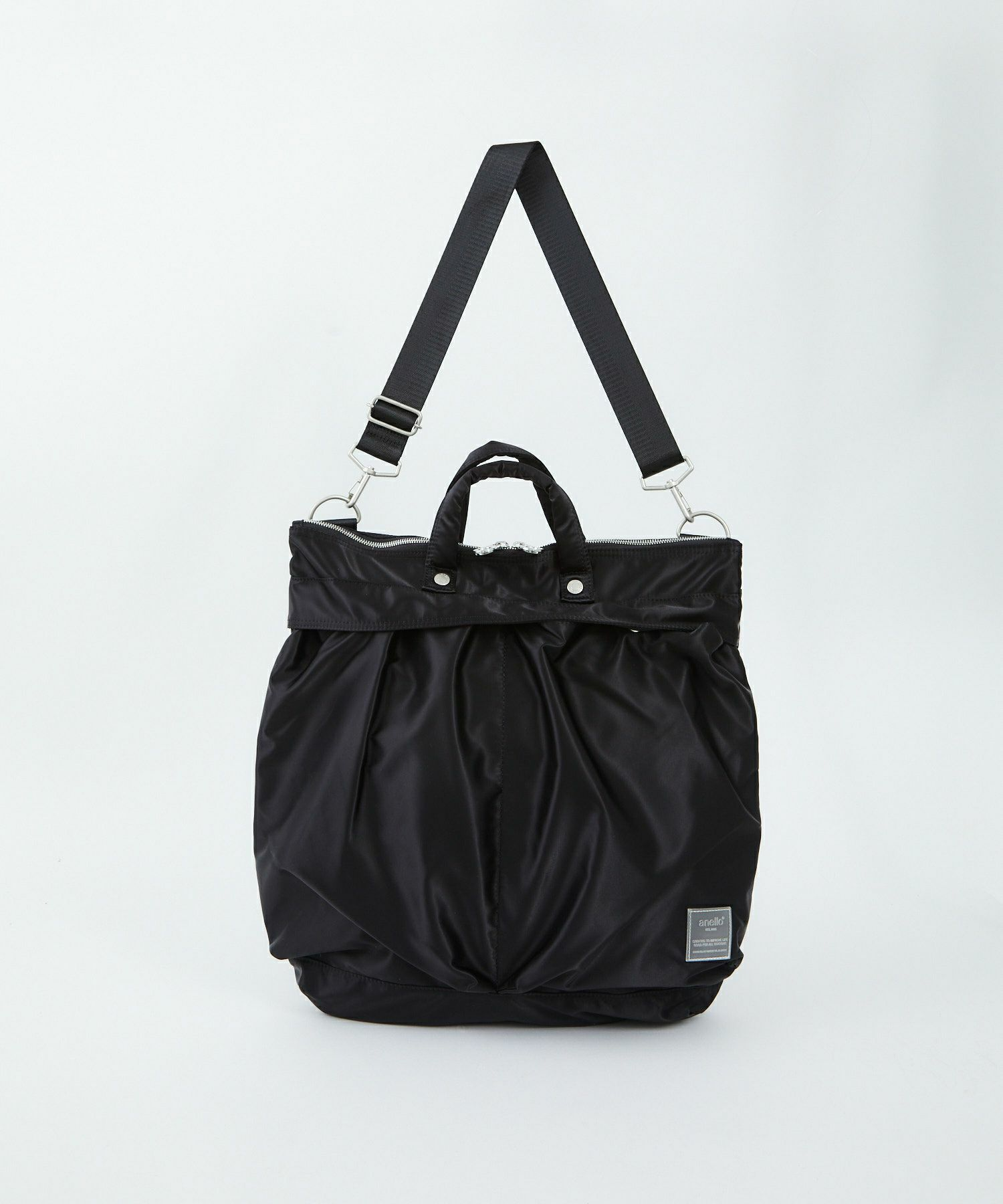 Anello SABRINA Nylon 2 Way Regular Shoulder Bag ATT0504 Black Japan Original Official Authentic Real Genuine Bag Free Shipping Worldwide Special Discount Low Prices Great Offer