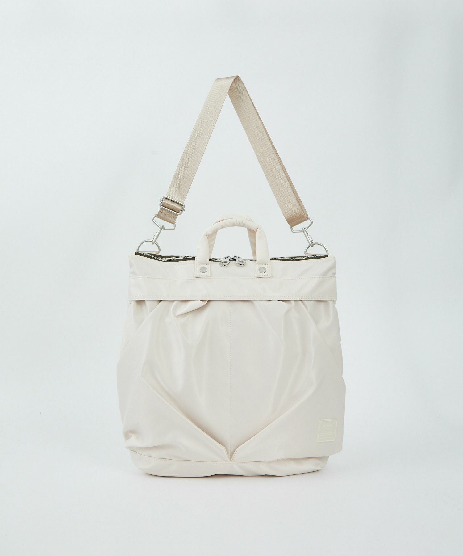 Anello SABRINA Nylon 2 Way Regular Shoulder Bag ATT0504 Ivory Japan Original Official Authentic Real Genuine Bag Free Shipping Worldwide Special Discount Low Prices Great Offer