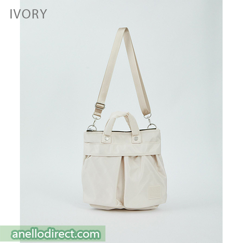 Anello SABRINA Nylon 2 Way Mini Shoulder Bag ATT0505 Ivory Japan Original Official Authentic Real Genuine Bag Free Shipping Worldwide Special Discount Low Prices Great Offer