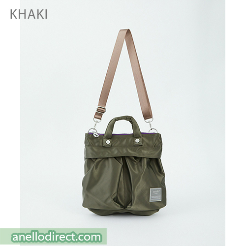 Anello SABRINA Nylon 2 Way Mini Shoulder Bag ATT0505 Khaki Japan Original Official Authentic Real Genuine Bag Free Shipping Worldwide Special Discount Low Prices Great Offer