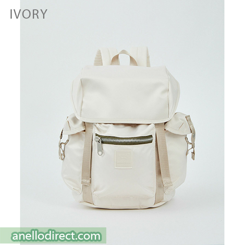 Anello SABRINA Flap Nylon Backpack Regular Size ATT0506 Ivory Japan Original Official Authentic Real Genuine Bag Free Shipping Worldwide Special Discount Low Prices Great Offer